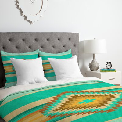 Fiesta Duvet Cover Set Size: King, Color: Teal