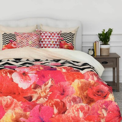 Flora 2 Duvet Cover Set Size: Twin/Twin XL
