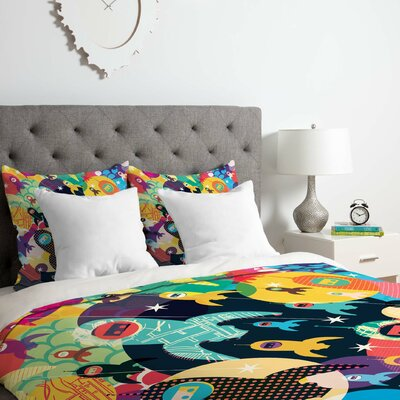 Sam Osborne Invasion Fleet Duvet Cover Set Size: Queen