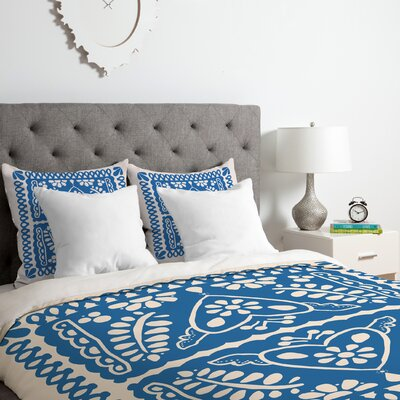Fiesta De Corazon Duvet Cover Set Size: Twin/Twin XL