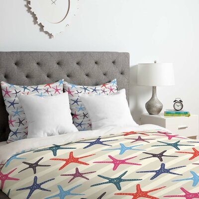 Star Fish Duvet Cover Set Size: King