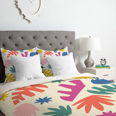 Zoe Wodarz Cut Paper Garden Duvet Cover Set Size: King