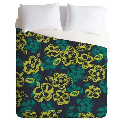 Lightweight Russian Ballet Duvet Cover Size: Queen, Color: Green and Black