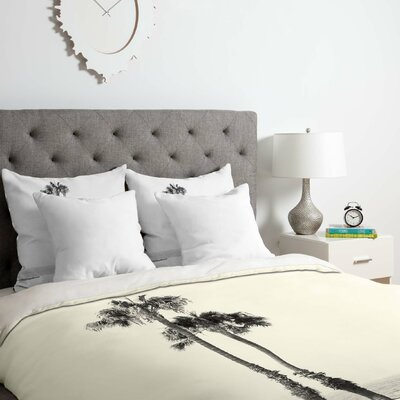 Two Palms Duvet Cover Set Size: King