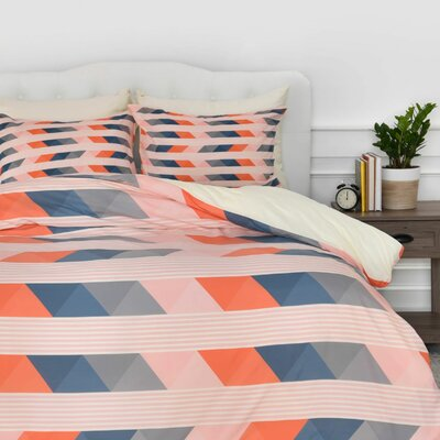 Fall Layers Duvet Cover Set Size: King