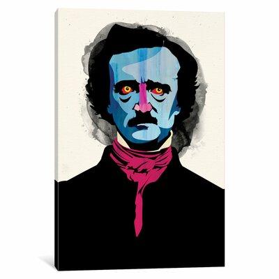 'Edgar Allan Poe' by Alvaro Tapia Graphic Art on Wrapped Canvas ESRB2059 34347042