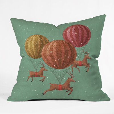 Flight of the Deers Indoor/Outdoor Throw Pillow