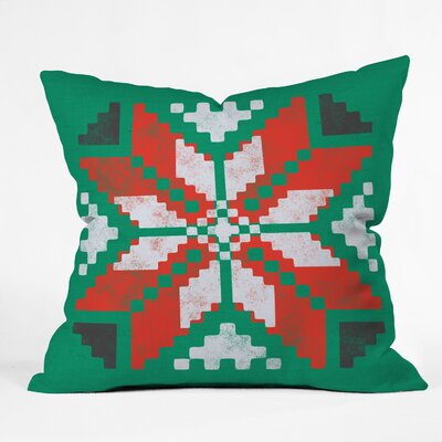 Southwest Snowflake Indoor/Outdoor Throw Pillow