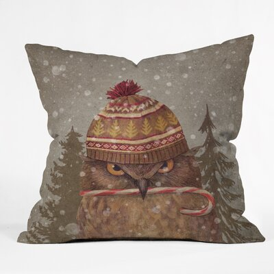 Christmas Owl Indoor/Outdoor Throw Pillow