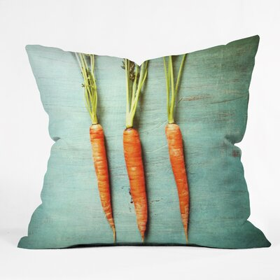 Olivia St Claire Eat Your Vegetables Throw Pillow Size: 16 H x 16 W x 4 D