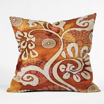 Design Warm Exotic Vines Throw Pillow Size: 16 H x 16 W x 4 D