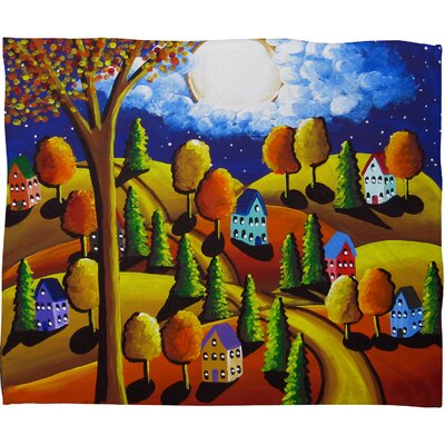 Fall Night Throw Blanket