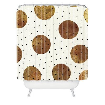 Mixed Dots Shower Curtain