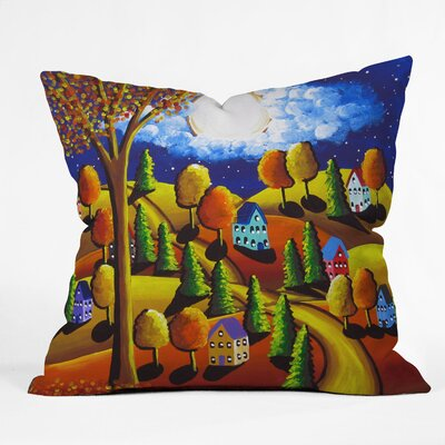 Fall Night Throw Pillow Size: 16 H x 16 W x 4 D