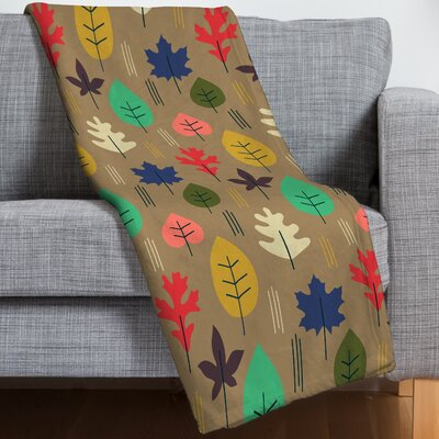 Leaf It All Behind Throw Blanket
