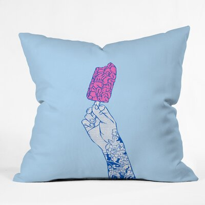 Brain Ice Cream Mmmmm Throw Pillow Size: 26 H x 26 W x 7 D