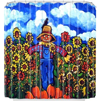 Scarecrow and Pumpkins Shower Curtain