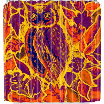 Owl Orange Batik Shower Curtain