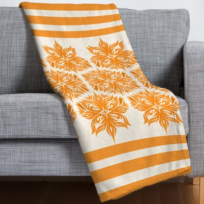 Creamsicle Floral Throw Blanket
