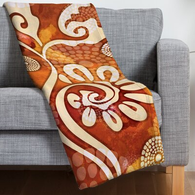 Design Warm Exotic Vines Throw Blanket
