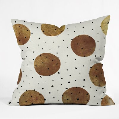 Mixed Dots Throw Pillow Size: 16 H x 16 W x 4 D