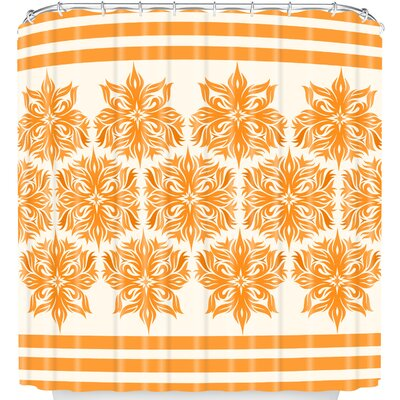 Creamsicle Tribal Floral Shower Curtain
