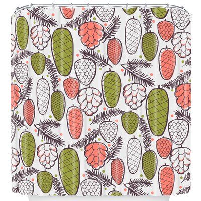 Pine Cottage Retro Shower Curtain