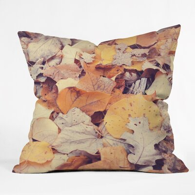 Fallen Leaves Throw Pillow Size: 16 H x 16 W x 4 D