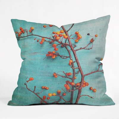 She Hung Her Dreams on Branches Throw Pillow Size: 16 H x 16 W x 4 D