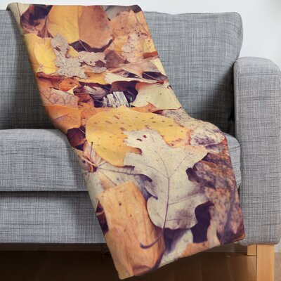 Fallen Leaves Throw Blanket