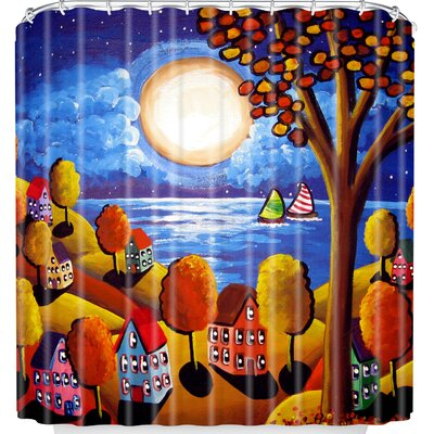 Fall Night Sail Shower Curtain