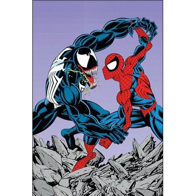 'Marvel Comics Retro Venom' by Marvel Comics Graphic Art on Wrapped Canvas MRV1418-1PC3-12x8