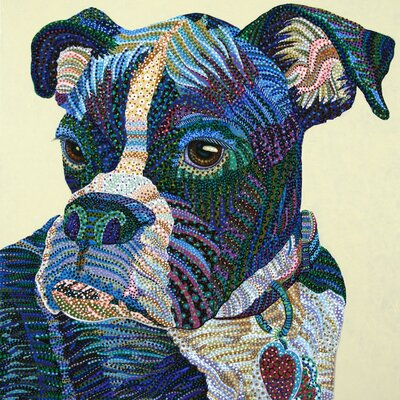 East Urban Home 'Boxer Portrait' by Ebova Graphic Art on Wrapped Canvas ESRB3999 34368294
