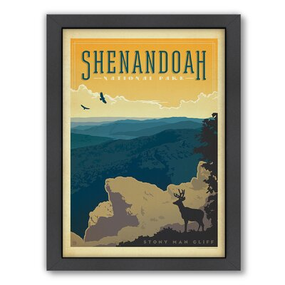 National Park Shenandoah Framed Vintage Advertisement Size: 25 H x 19 W x 1.5 D