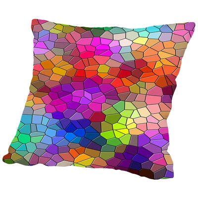 Colorful Abstract Mosaic Style Throw Pillow Size: 16 H x 16 W x 2 D