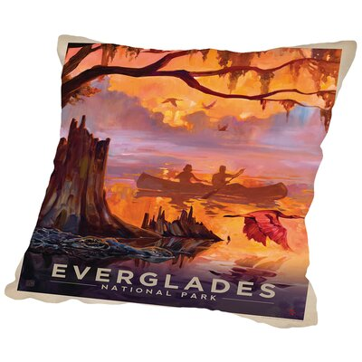 Everglades Throw Pillow Size: 20 H x 20 W x 2 D