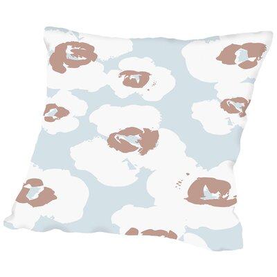 Poppy Silhouette Throw Pillow Size: 16 H x 16 W x 2 D