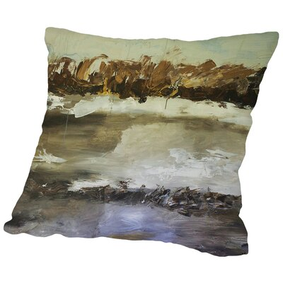 Winter Landscape Throw Pillow Size: 18 H x 18 W x 2 D