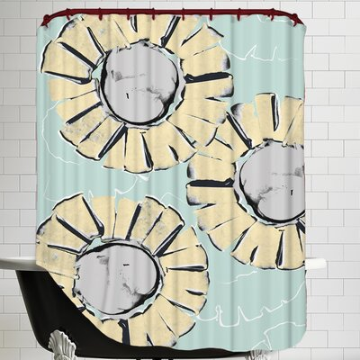 Poppy Silhouette Shower Curtain