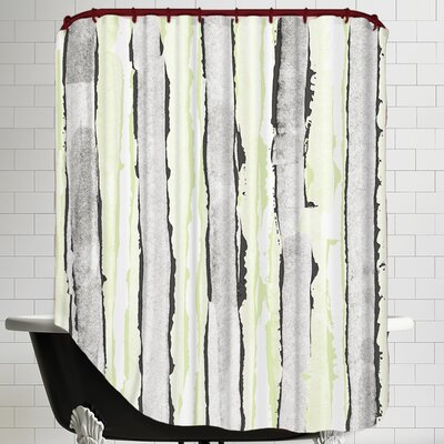 Faded Rose Stripe V Shower Curtain