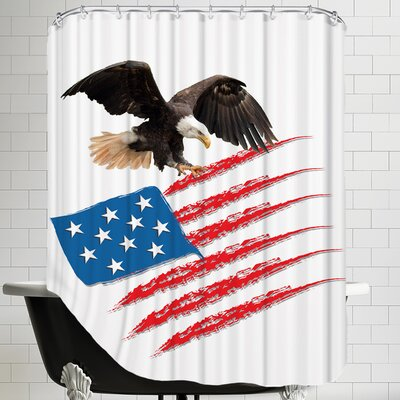 United States America Flag Shower Curtain