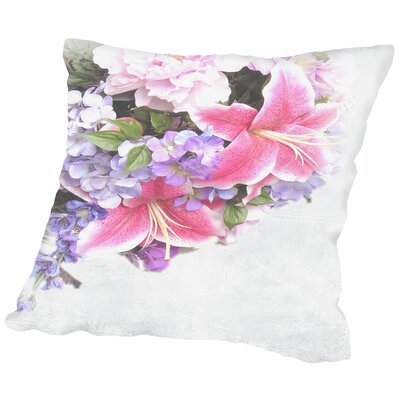 Lily Flower Throw Pillow Size: 14 H x 14 W x 2 D