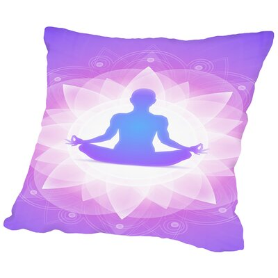 Yoga Faith Meditationn Throw Pillow Size: 18 H x 18 W x 2 D