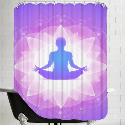 Yoga Faith Meditationn Shower Curtain