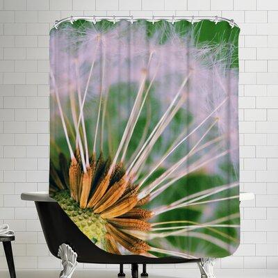 Macro Dandelion Flower Shower Curtain