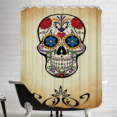 Horror Skull Shower Curtain