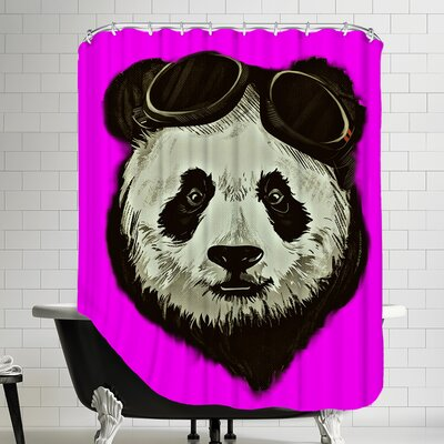 Panda Bear Shower Curtain Color: Pink