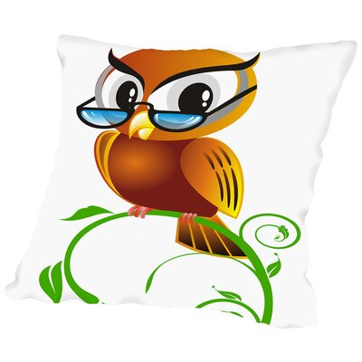 Owl Bird Graphic Throw Pillow Size: 14 H x 14 W x 2 D