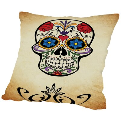 Horror Skull Throw Pillow Size: 14 H x 14 W x 2 D