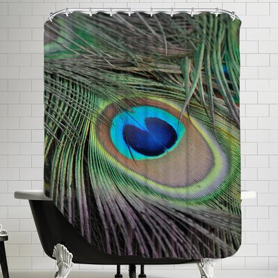 Peacock Peafowl Bird Feather Shower Curtain